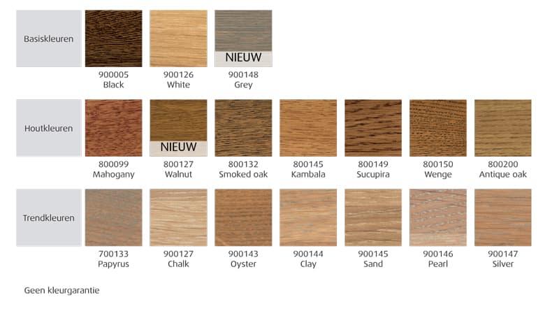 vloerolie kleuren